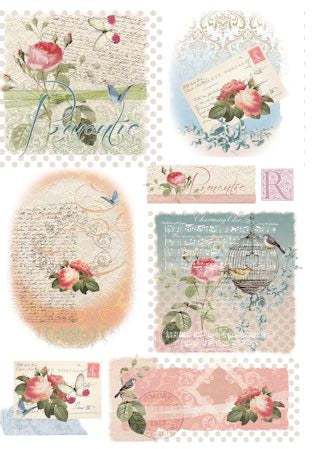 Silk Print Paper 251 - Romantic