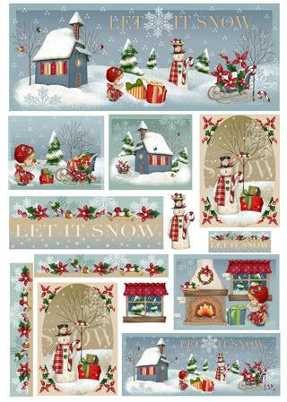 Silk Print Paper 273 - Let it Snow