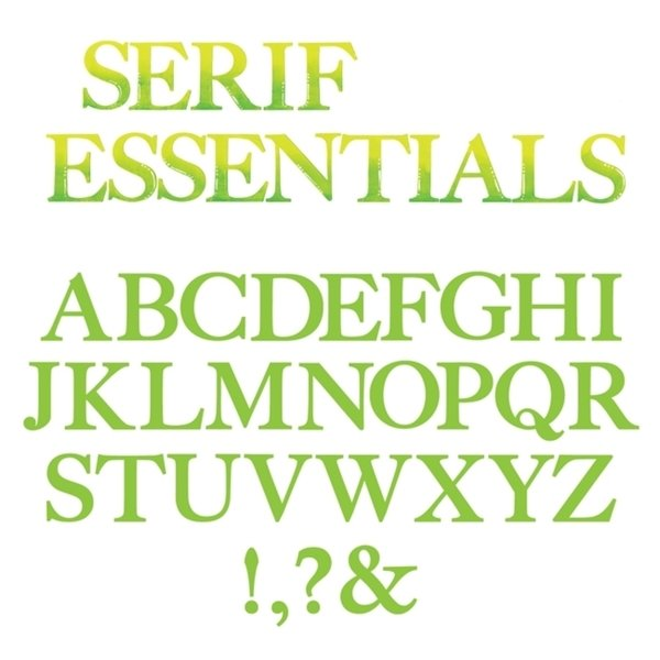 Alfabeto Serif Essentials- stampatello maiuscolo in feltro 3 mm