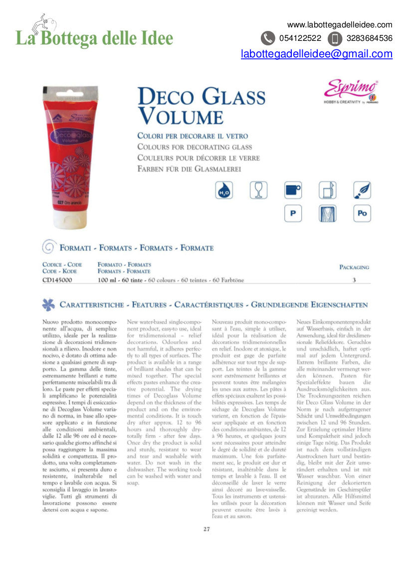Ferrario - Deco Glass Volume