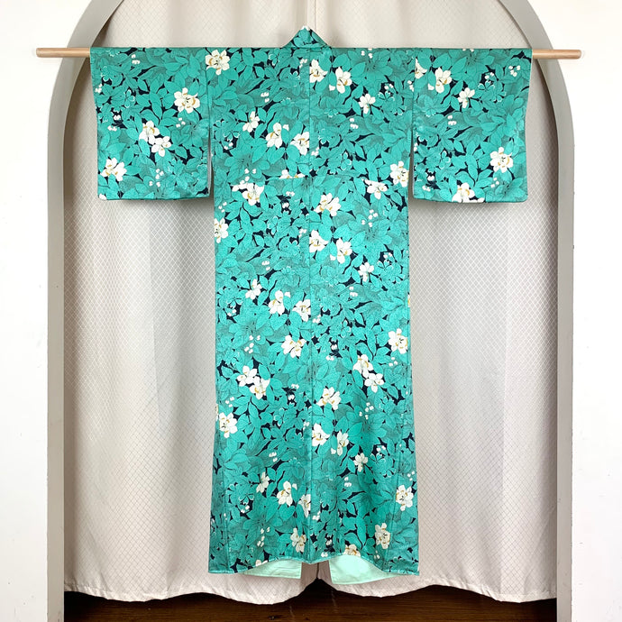 CHERRY BLOSSOMS AT NIGHT VINTAGE KIMONO