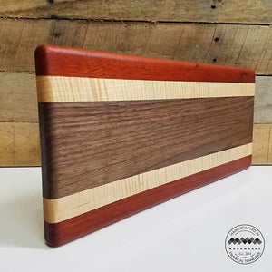 Cheese/Bread/Serving Board Walnut Maple and Bloodwood