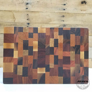 End Grain Butcher Block Mosaic Pattern