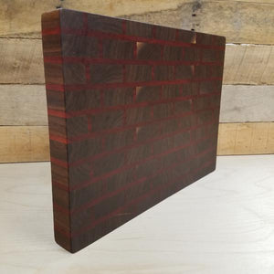 End Grain Butcher Block Walnut & Bloodwood Brick Pattern