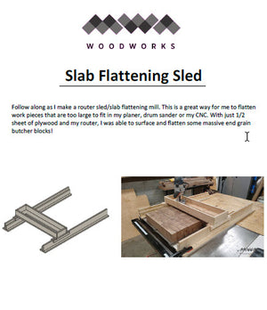 Plans - Router Sled / Slab Flattening Mill