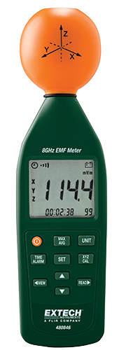 Extech 8GHz RF Electromagnetic Field Strength Meter