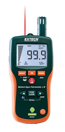 Extech MO300: Pinless Moisture Meter with Bluetooth®