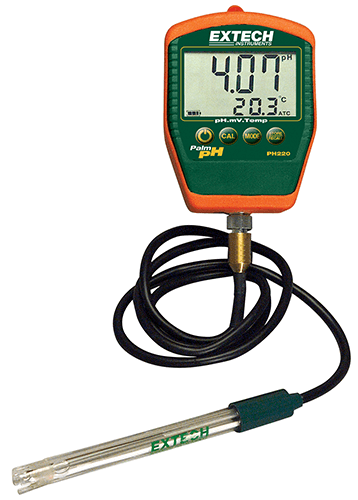 PH220-C: Waterproof Palm pH Meter with Temperature