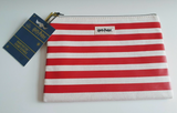 Harry Potter Red White Stripe Cosmetics Bag