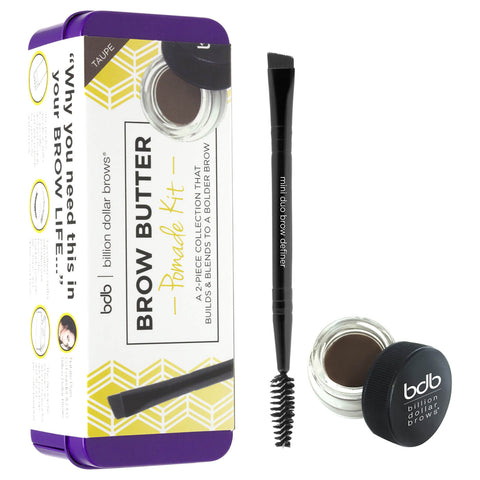 Billion Dollar Brows Brow Butter Pomade Set - Taupe