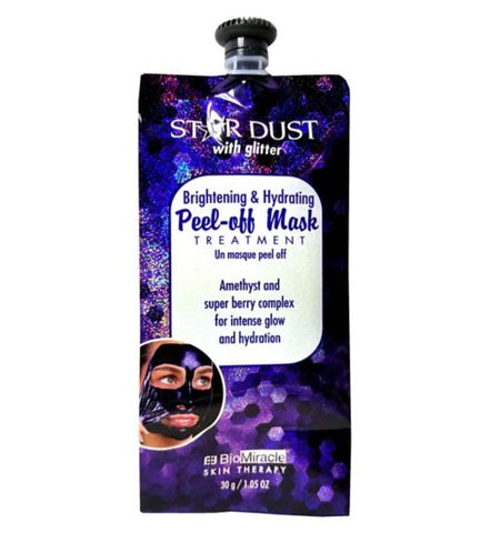 Biomiracle Amethyst Glitter Peel Off Face Mask - Brightening and Hydrating