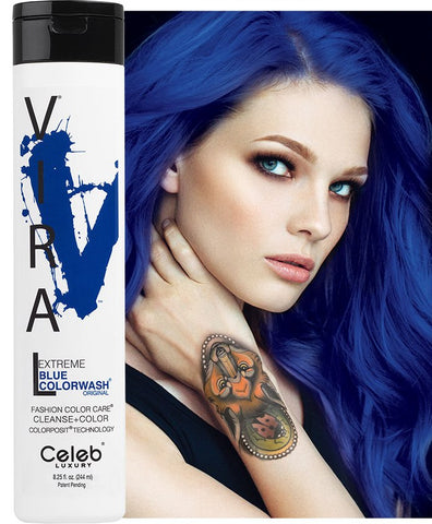 Celeb Luxury Viral Colourwash Shampoo - Extreme Blue