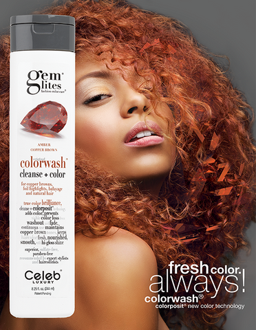 Celeb Luxury Gem Lites Colourwash Shampoo Copper - Amber