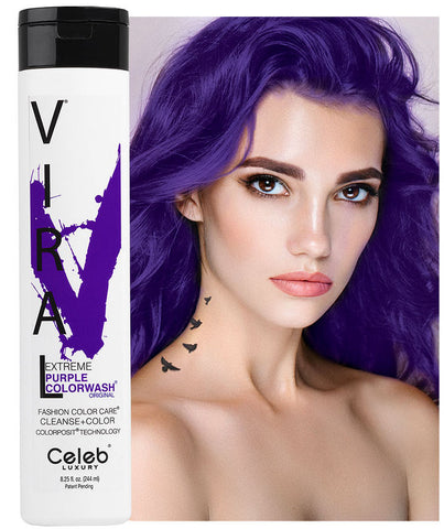 Celeb Luxury Viral Colourwash Shampoo - Extreme Purple