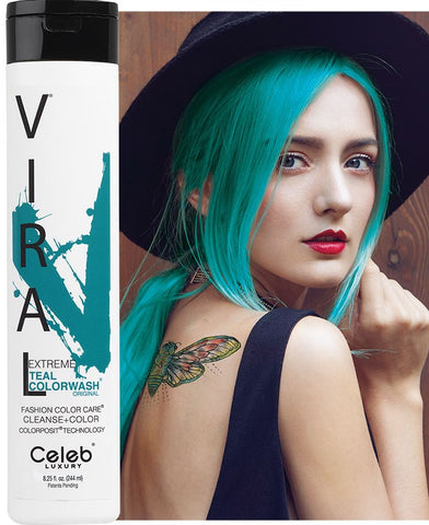 Celeb Luxury Viral Colourwash Shampoo - Extreme Teal