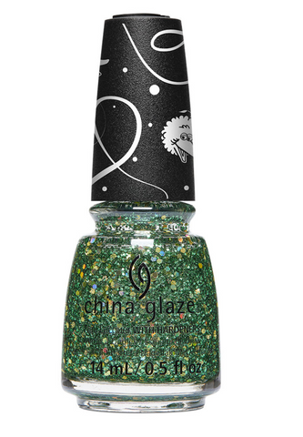 China Glaze Sesame Street Christmas Nail Glitter - A Grouchy New Year