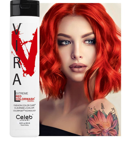 Celeb Luxury Viral Colourwash Shampoo - Extreme Red