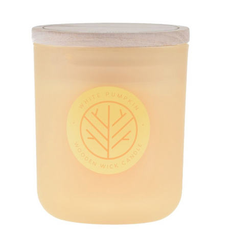 DW Home White Pumpkin Medium Woodwick 11.4 oz Candle