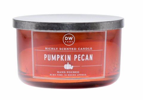 DW Pumpkin Pecan Scented 3 Wick Candle