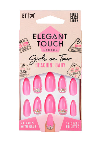 Elegant Touch Pink Beachin Baby False Nails