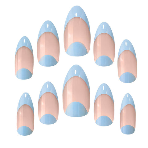 Elegant Touch City Slickin Blue Tipped False Nails