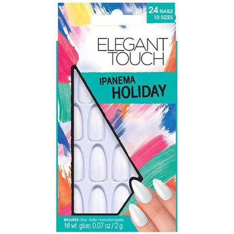 Elegant Touch Ipanema Long White Nails