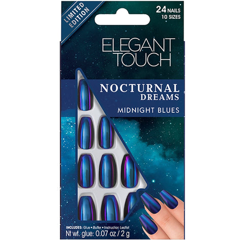 Elegant Touch Midnight Blues False Nails