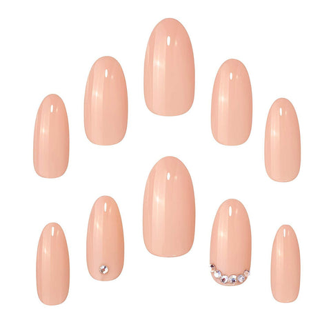Elegant Touch Phone Line Nude False Nails