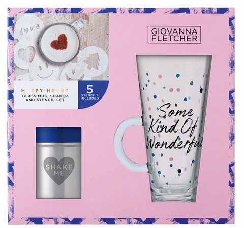Giovanna Fletcher Happy Heart Cup and Cocoa Shaker Gift Set
