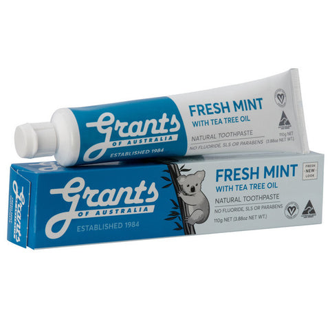 Grant's Natural Toothpaste - Fresh Mint and Tea Tree