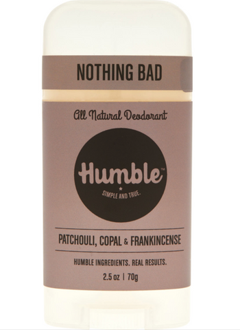 Humble All Natural Deodorant Stick - Patchouli, Copal, and Frankincense