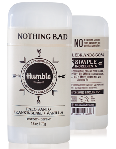 Humble All Natural Deodorant Stick - Palo Santo Vanilla