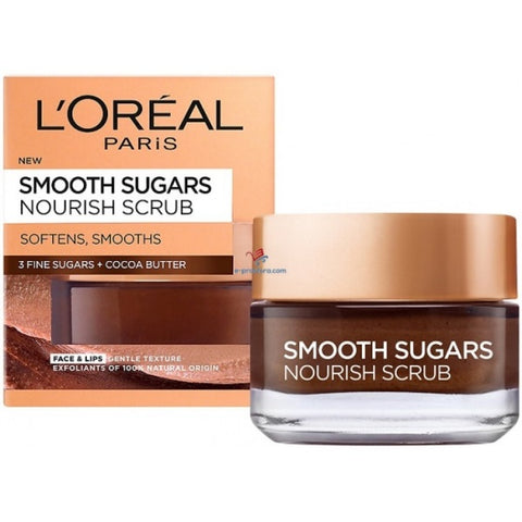 Loreal Smooth Sugars Nourish Scrub for Face and Lips