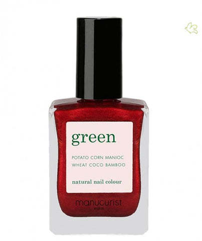 Manucurist Green Vegan Natural Nail Colour - Red Hibiscus