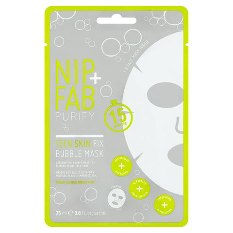 Nip Fab Teen Skin Bubble Sheet Face Mask