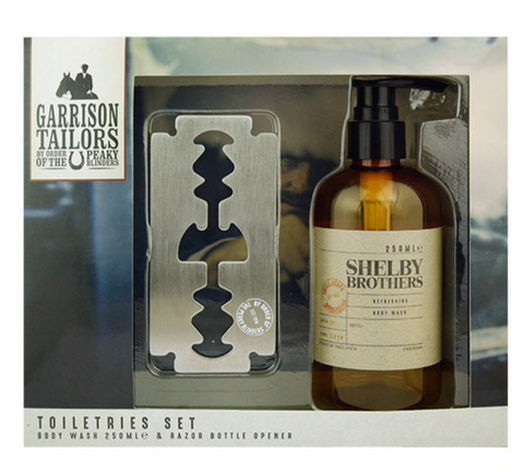 Peaky Blinders Razor Style Bottle Opener and Body Wash Set