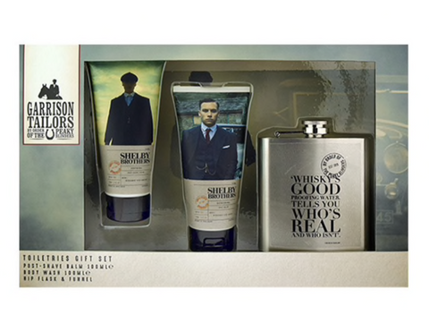 Peaky Blinders Whiskey Hip Flask and Body Wash Set