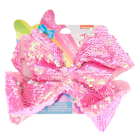 Jojo Siwa Large Pink Sequin Hair Bow