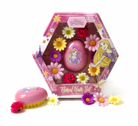 Rapunzel Floral Hairbrush Set