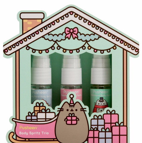Pusheen Christmas Body Spritz Trio