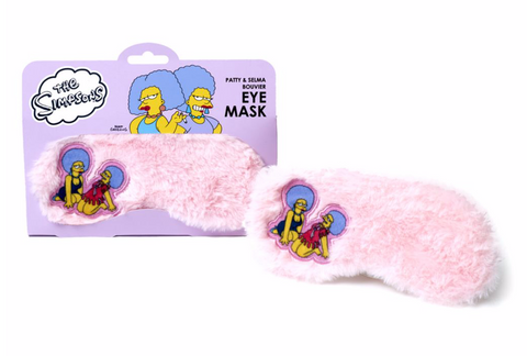 The Simpsons Patty and Selma Furry Pink Sleep Mask