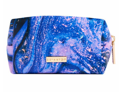 Skinnydip Purple Marble Design Makeup Bag