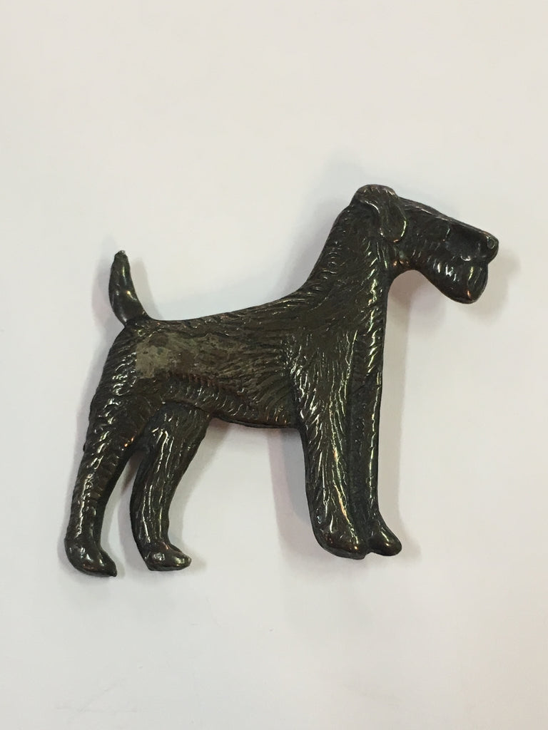 Antique Sterling Silver Giant Schnauzer Dog Brooch