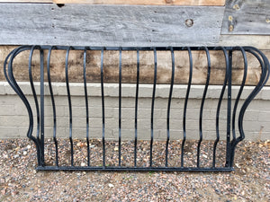 Reclaimed Cast Iron Balcony Railing Guard in Black SOLD