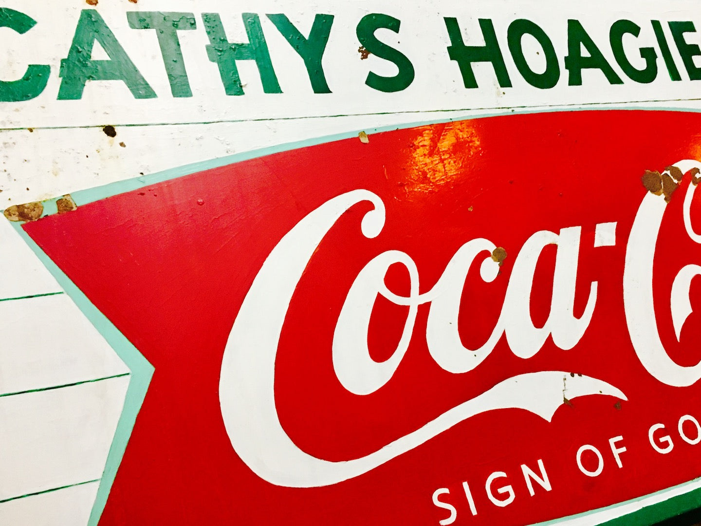 Vintage Coca-Cola Sign Fishtail