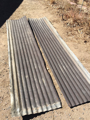 Reclaimed Corrugated Tin Sheets 10ft x 26""
