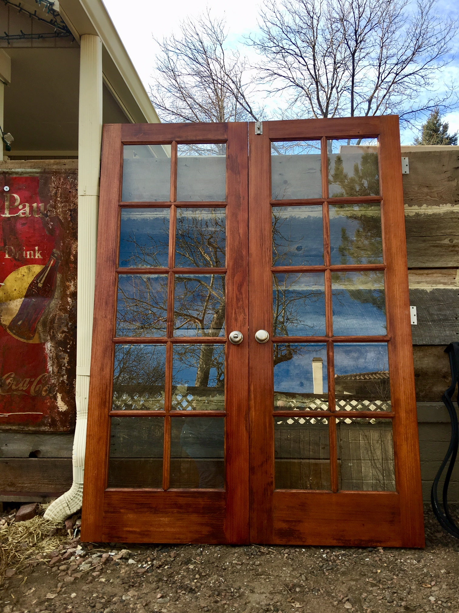 Vintage Cherry Wood French Doors 80