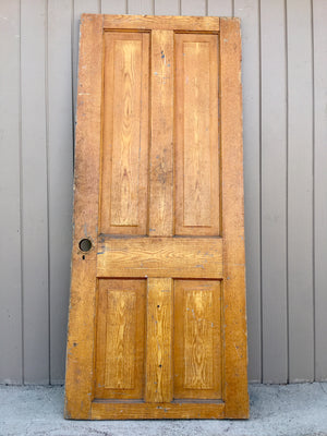 "Antique 4 panel solid wood door 70"" x 29 1/2"" SOLD"