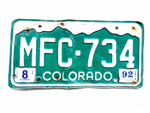 Vintage Colorado License Plate MFC734 For Sale