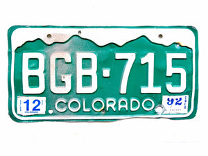 Vintage Colorado License Plate BGB715